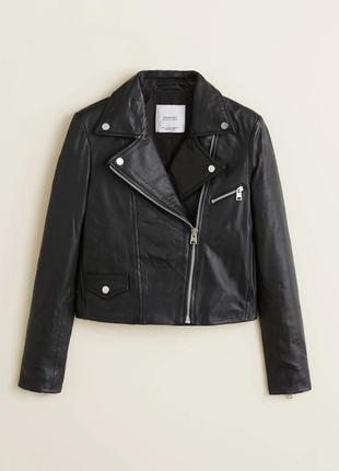 100% натуральная кожа женская косуха куртка xs, s, l  mango оригинал