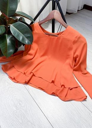Оранжевая блузка от zara