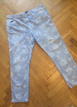 Стильные , зауженные джинсы,котоновые брюки,укороченные,высокая посадка,charles vogeie