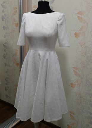 Свадебное белое хлопковое платье индивидуальный пошив