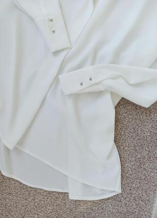 💚стильная молочная  рубашка oversize 💚