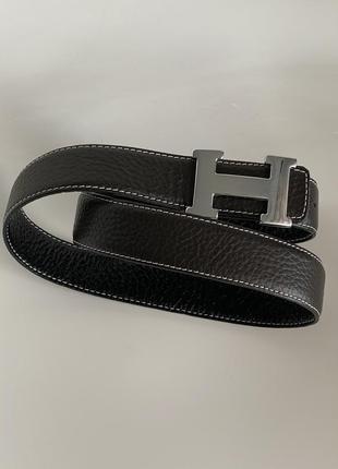 Кожаный ремень hermès унисекс размер s/m
