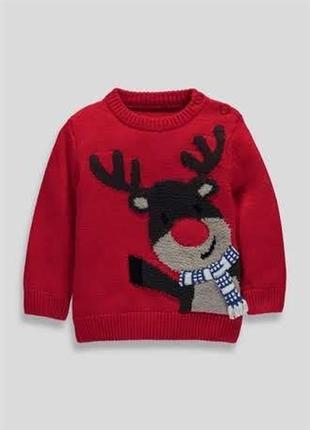 Новогодний музыкальный свитер matalan на 2-3 года