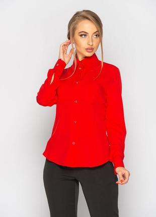 Классическая женская блуза (красная)