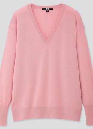 Uniqlo extra fine merino wool jumper свитер из мериносовой шерсти