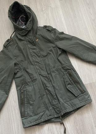 Парка куртка плащ хаки