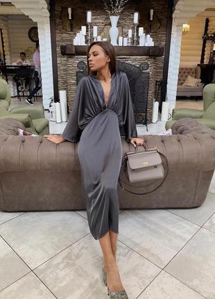 Платье миди  шёлк