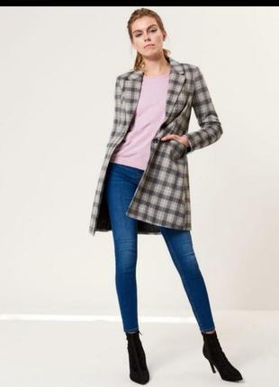 Пальто mohito пальто в клетку класическое пальто