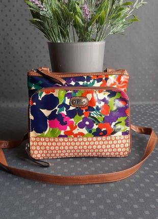 Красивая разноцветная сумка кроссбоди фирмы pium в новом состоянии