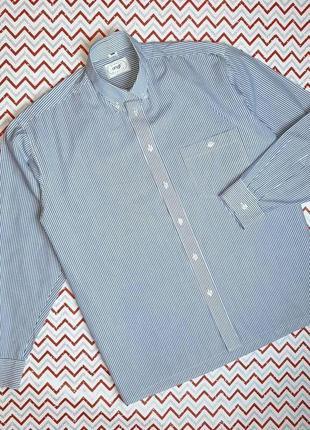 😉1+1=3 стильная базавая белая рубашка в полоску с длинным рукавом angli, размер 44 - 46