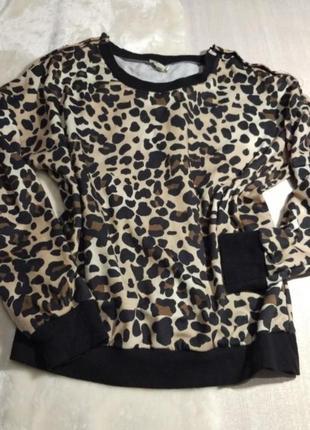 Джемпер leopard  . италия