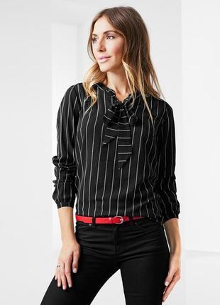 Шикарная блуза креп с лентами от тсм tchibo (чибо), германия,