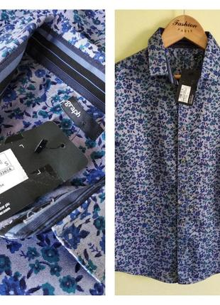 👔 фирменная нарядная рубашка на 9-10 лет премиум качество! m&s 👔