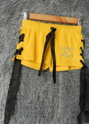 Крутые шорты с люверсами шнуровка ленты из атласа низкая посадка с\м\хл в наличии