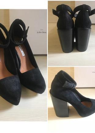 Кожаные,замшевые новые туфли,мюли,широкий каблук & other stories