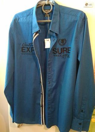 Мужская стильная спортивная рубашка от бренда «smog»