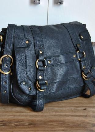 Кожаная сумка topshop / шкіряна сумка