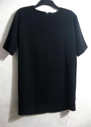 Платье asos чёрное короткое прямое свободное короткий рукав повседневное