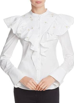 Блуза с вышивкой karen millen (uk 8,р.s)