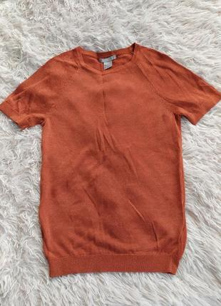 Блискучий топ футболка з люрексом h&m
