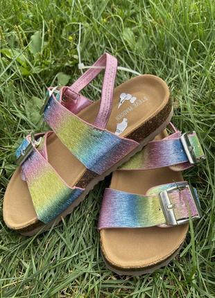 Стильные детские босоножки сандали steve madden градиентные голографические разноцветные