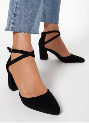 Туфли еко замш