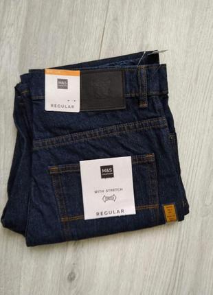 Классические мужские коттоновые джинсы marks & spencer w30/l29