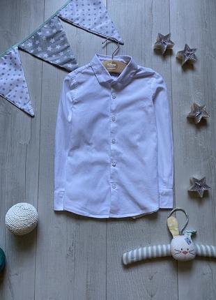 Нарядная белая рубашка 6 лет
