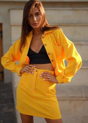 Ефектний стильний костюм спідниця і куртка