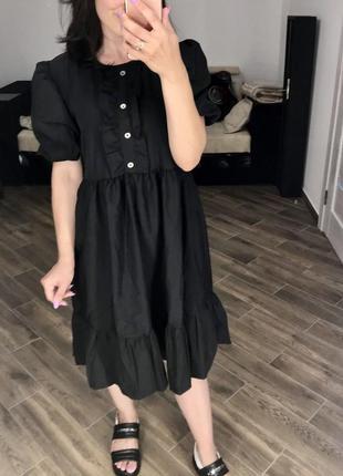 Сукня з рукавами-фонариками🖤