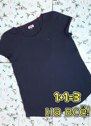 🌿1+1=3 фирменная женская свободная синяя футболка tommy hilfiger, размер 48 - 50