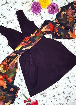🌿1+1=3 красивое яркое нарядное фиолетовое платье миди ted baker, размер 42 - 44