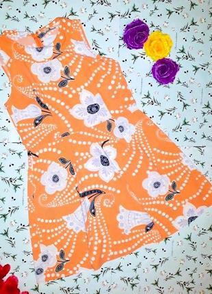 🌿1+1=3 стильное фирменное нежное платье миди tu в цветочный принт, размер 50 - 52