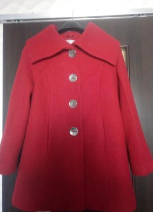 Пальто натуральная шерсть осень-весна
