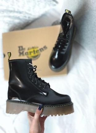 Женские ботинки dr martens jadon black brown