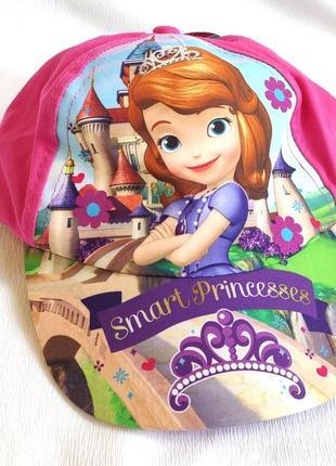 Бейсболка детская розовая disney smart princesses
