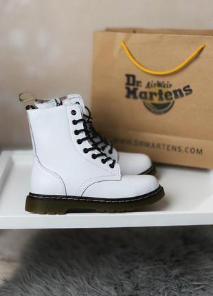 Женские ботинки dr martens white / black