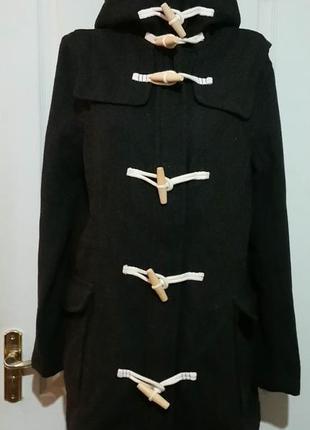Полушерстяное пальто парка супердрай superdry