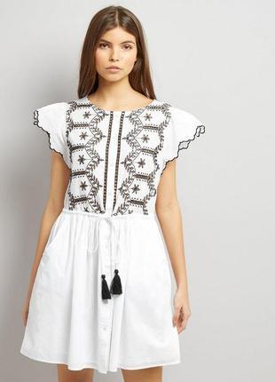 Шикарное хлопковое платьице фирмы new look (сток)