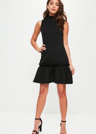 Классное платье с воланом
