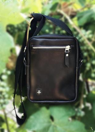 Мужская модная кожаная сумочка на плечо