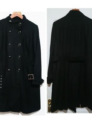 Полушерстяное пальто на красивые формы
