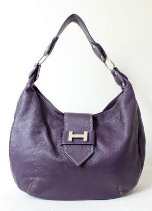 Кожаная сумка хобо (италия)