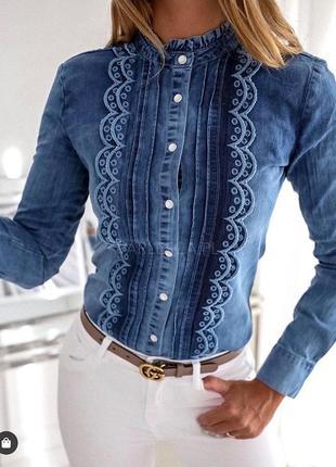 Нереально крутая джинсовая рубашка