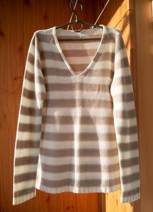 Классный полосатый пуловер