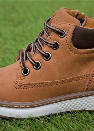 Демисезонные детские ботинки clibee светло коричневый р26-31
