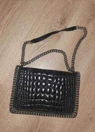 Брендовая крутая кожаная сумка