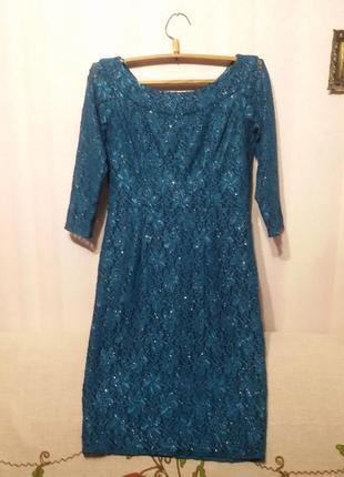 Платье гипюровое очень красивое (пог 50-55см +)