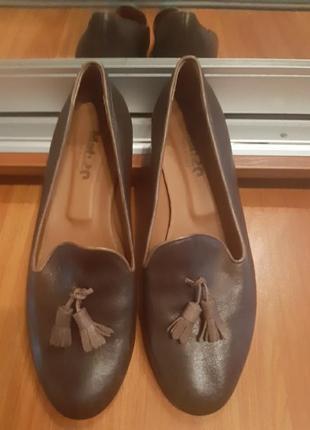 Кожаные лоферы туфли