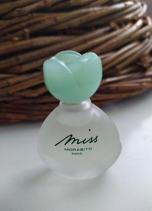 Miss morabito pascal morabito, винтажная миниатюра, parfum/чистые духи, 7,5 мл, редкость!